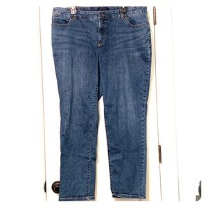 Talbot's Simply Flattering 5 Pocket Ankle Jeans